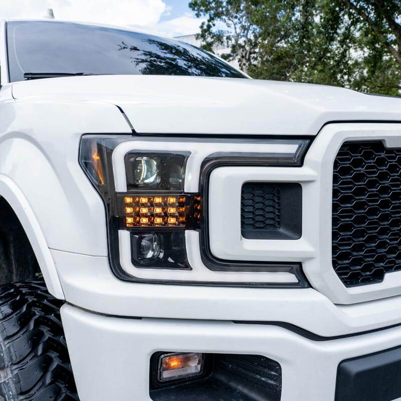 Recon Smoked Headlights With Scanning Signals  U0026 Oled Drl