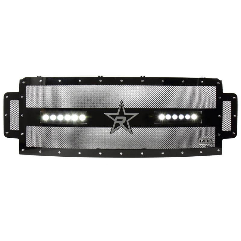 RBP RX-3 LED Midnight Edition Single Row Black Studded Grille