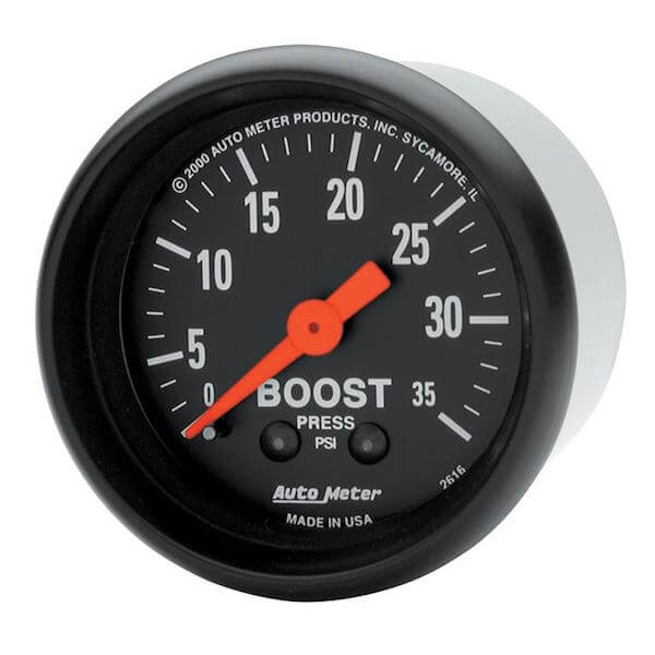 Autometer Z Series 35 psi Boost Gauge