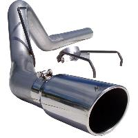MBRP 4 Inch AL Exhaust Filter Back w/Tip - 6.7 Cummins 2007.5-2009