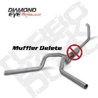 Diamond Eye Exhaust 4 Inch Aluminized Dual no Muffler - 7.3 Powerstroke 1999-2003