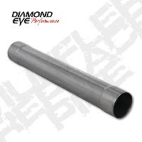 Diamond Eye 4 Inch Aluminized Muffler Delete Pipe 4x4x30