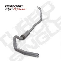 Diamond Eye 4 Inch Turbo Back AL Exhaust Muffler - 6.0 Powerstroke 2003-2007