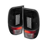 Spyder Black LED Tail Lights - 7.3|6.0 Powerstroke 1999-2007
