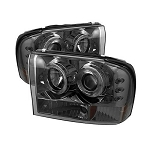 Spyder Projector LED Halo Smoked Headlights - 7.3|6.0 Powerstroke 1999-2004