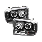 Spyder Projector CCFL Halo Black Headlights - 7.3|6.0 Powerstroke 1999-2004