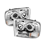 Spyder Projector CCFL Halo Chrome Headlights - 7.3|6.0 Powerstroke 1999-2004