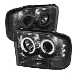 Spyder Projector CCFL Halo Smoked Headlights - 7.3|6.0 Powerstroke 1999-2004