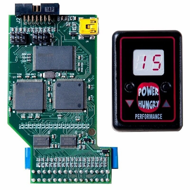 PHP Hydra Chip Performance Programmer w//Selector Switch Gauge Pod Compatible with 1994-2003 Ford 7.3L Powerstroke Diesel