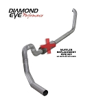 Diamond Eye 4 Inch Turbo Back Al Exhaust No Muffler - 7.3 Excursion 2001-2002