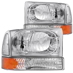 Anzo Headlights Chrome (Amber Corner)