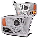 Anzo Chrome Projector Headlight With U-Bar - Ram 2010-2018