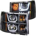 Anzo Black U-Bar Style Projector Headlights