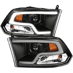 Anzo Black Plank Style Design Projector Headlights - Ram 2010-2018