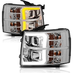 Anzo Chrome Plank Style Switchback Projector Headlights