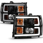 Anzo Black Plank Style Design Projector Headlights