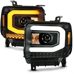 Anzo Black Plank Style Switchback Projector Headlights