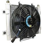 BD Xtruded Aux Transmission Cooler w|Fan