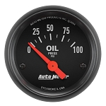 Autometer Z Series Oil Pressure 0-100 PSI Gauge