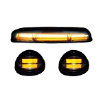 Recon Smoked Lens Amber OLED Bar-Style Cab Lights