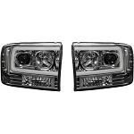 Recon Clear Projector Headlights With OLED U-Bar