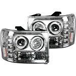 Recon Clear Projector Headlights With LED Halos