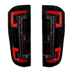 Recon Dual U-Bar Smoked Lens OLED Tail Lights - Super Duty 2017-2019