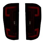 Recon Dual U-Bar Dark Red Lens OLED Tail Lights - Superduty 2017-2019