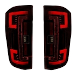 Recon Dual U-Bar Red Lens OLED Tail Lights - Super Duty 2017-2019