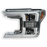Recon Chrome Headlights With Scanning Signals & OLED DRL - F-150 2018-2019