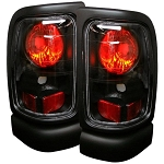 Spyder Black Euro Style Tail Lights - Ram 1994-2002