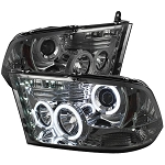 Spyder Smoked Projector Headlights W|CCFL Halo - Ram 2010-2018