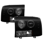 Spyder Black|Smoke 1-PC Projector Headlights W|LED Halo