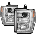 Spyder Chrome Version 2 Switch Back Projector Headlights - Super Duty 2008-2010