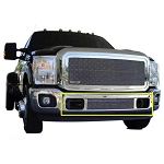 T-Rex Upper Class Series Polished Mesh Bumper Grille