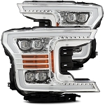 Alpharex Nova-Series Chrome LED Projector Headlights - F-150 2018-2019