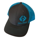 FFD Charcoal | Neon Blue Trucker Hat