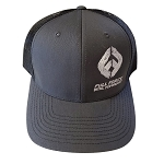FFD Gray Front Black Mesh Logo Trucker Hat