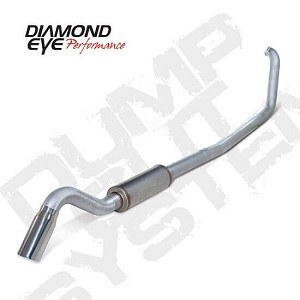 Diamond Eye Exhaust 4 Inch Aluminized TD with Muffler - 7.3 Powerstroke 1999-2003