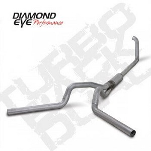 Diamond Eye Exhaust 4 Inch Aluminized Dual with Muffler - 7.3 Powerstroke 1999-2003