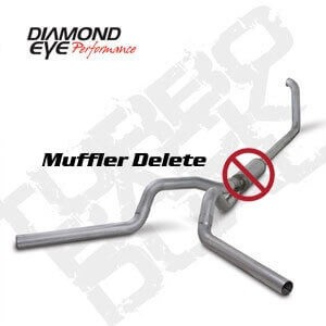 Diamond Eye Exhaust 4 Inch Aluminized Dual no Muffler - 7 3 Powerstroke  1999-2003