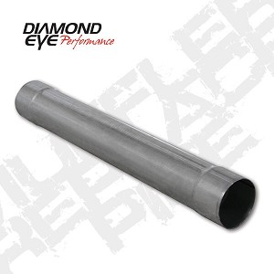 Diamond Eye 4 Inch Aluminized Muffler Delete Pipe