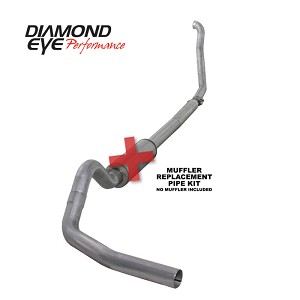 OBS Diamond Eye 4 Inch Aluminized Exhaust